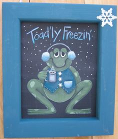 Toad'ly Freezin' Tole Painting Pattern by barbsheartstrokes, $4.00