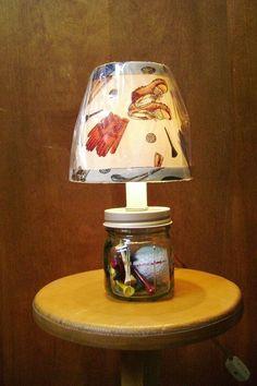 Golf lamp using Mason Jar!