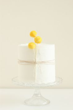 yellow and cake