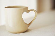love shaped mug, cool!