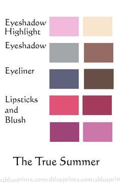Best Makeup Colours : True Summer