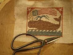 Prairie Schooler Design stitched by Winding Vine Wanderings