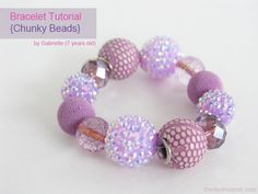 Little Girl's Easy Chunky Beads  Bracelet Tutorial - - The D.I.Y. Dreamer