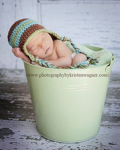 Newborn Crocheted Baby Boy Hat Photo Prop - http://www.etsy.com/listing/79021250/newborn-crocheted-baby-boy-hat-photo?ref=recently_listed_items