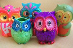 I love the funky, crazy owls, while Justin loves the more traditional, realistic-looking owls. Cayleigh is all over the place!