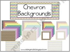 43 chevron backgrounds for creating your own items! $2.00