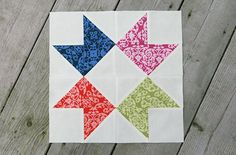 Ribbon Star tutorial from Fresh Lemon quilts. They are really just HSTs. Easy!