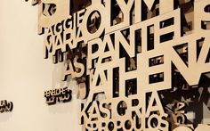 Incredible 3D 'Wall Typography' from Australian agency End of Work.