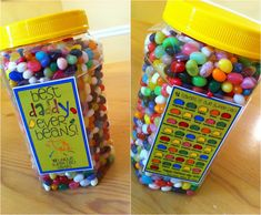 Pretty sure Daddy needs to get these for his desk at work from his girls! the letter 4: Best Daddy Ever Beans