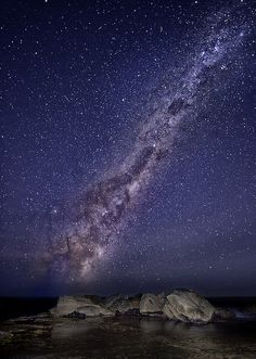 amazing Milky Way as seen at Forrester's Beach, Australia