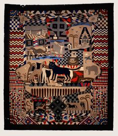 Patchwork Bed Cover, 1842-1852, James Williams (Wrexham, UK). British Folk Art at the Tate Museum - 10 June to 14 September 2014.