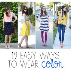 18 easy ways to incorporate bright colors into your wardrobe!