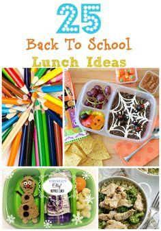 25 Back to School Lunch Ideas #backtoschool #lunchideas #kidslunch