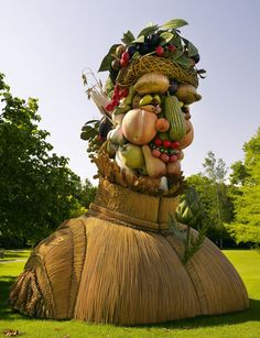 """The Atlanta Botanical Garden is an Art-Destination - This is planning ahead: """"In 2014 Matheson has plans to bring filmmaker-turned-visual artist Philip Haas to the Atlanta Botanical Garden. Haas's massive 15-foot high fiberglass sculptures recreate the 16th-century oil paintings of Italian master Giuseppe Arcimboldo who crafted surreal portraits from fruits, vegetables, flowers and fish."""""""