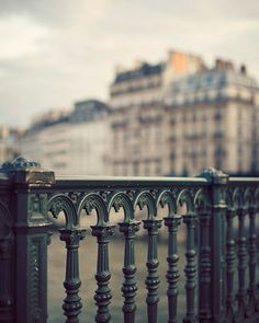 Paris Bridge Railing and Apartments Dreamy by EyePoetryPhotography, $30.00