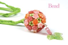 Beaded Topiary Ball Pendant by Sian Nolan - project in issue 45 of Bead Magazine