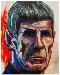 Old Spock  oil paint