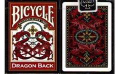 Bicycle Red Dragon Back Playing Cards. #playingcards #poker #games