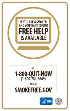 Want to quit smoking for good? Free help is available by calling 1-800-QUIT-NOW or visiting smokefree.gov. #SGR50