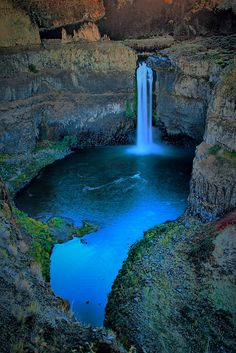 Palouse Waterfall State Park at Twilight ~ Washington