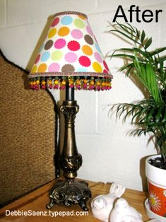 Mod Podge Lamp shade diy