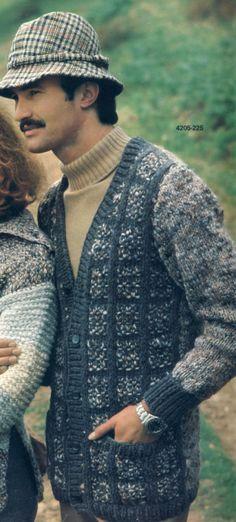Mens Knit Cardigan Pattern by suerock on Etsy, $3.99