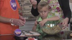 Sallie has a little helper in the kitchen to show us how to make a healthy after school snacks for your students.
