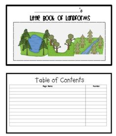 Studying landforms? Your students will enjoy cutting out, stapeling, and coloring this little landform book.  This landform activity includes t...