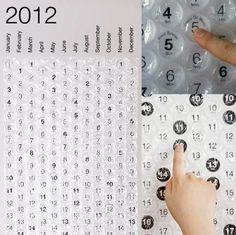 bubble wrap calendar