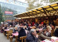 Budapest Christmas Market - This market is downright pleasant, with ample room to amble along and stop and smell the flowers — or vats of mulled wine and hanging pomander balls of oranges and cloves.