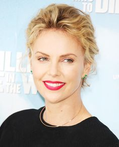 Short curly hair inspo: Charlize Theron #InStyle