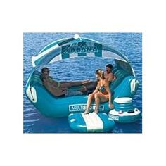 SPORTSSTUFF CABANA ISLANDER Inflatable Lounge, this would be fun for floating down the river