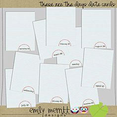 Date Cards from The Lily Pad