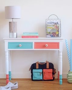Customize your furniture with dipped legs and painted drawers