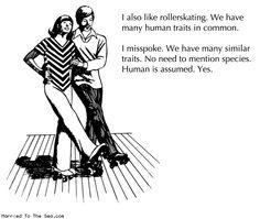 Comic by Natalie Dee: human rollerskating