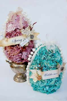 Ruffled Glimmer Eggs - Scrapbook.com