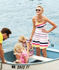 oh hey husband and two pretty blonde daughters and pretty striped dress, you can be my life