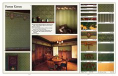 Arts & Crafts wallpapers, Forest Green