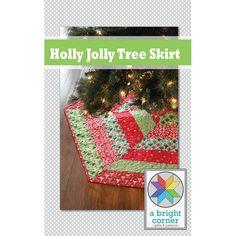 Holly Jolly Christmas Tree Skirt Pattern pdf by aBrightCorner, $8.00