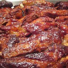 CROCK POT RIBS// Sooooo tender! Fall off the bone; Literally. Likely the best ribs I've ever eaten!!!