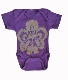 Purple Folksy Baby Onesie and Lap Tee by StudioVim on Etsy, $10.00