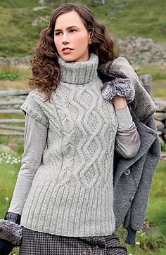 Ravelry: #B52 Aran Vest pattern by Verena Design Team