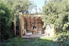 an outdoor open air library.