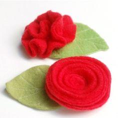 fleec rose, sew, brooches, felt rose, craft idea, roses, crafti treasur, needl, fleec scrap