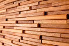 Wood wall tiles.