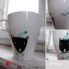 Painted mug  paint mug taza decorada