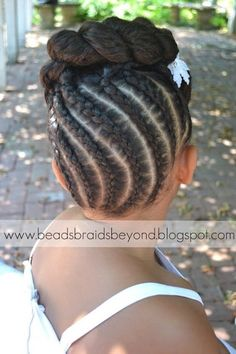 Beads, Braids and Beyond: updo - daughter try