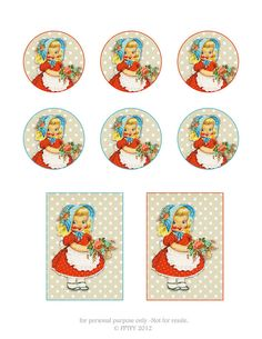 Free Vintage pretty little girl clip art Tag Page by FPTFY by Free Pretty Things For You!, via Flickr*