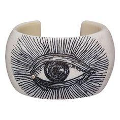 ivory scrimshaw cuff