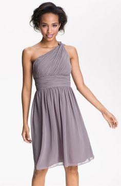 Donna Morgan One Shoulder Chiffon Dress available at #Nordstrom